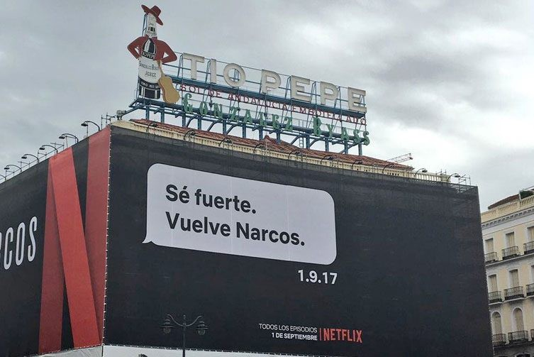 Netflix, ejemplo de street marketing