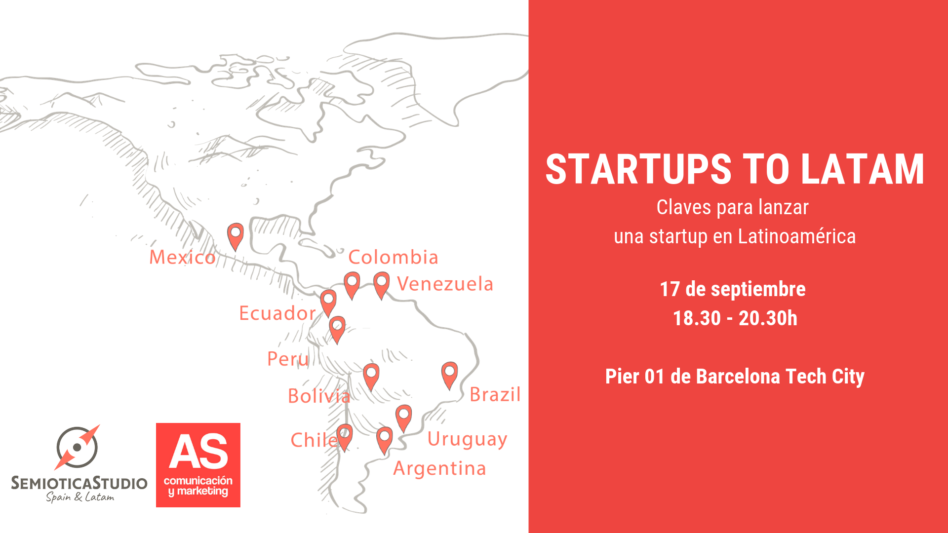 cartel del evento - Startups to Latam